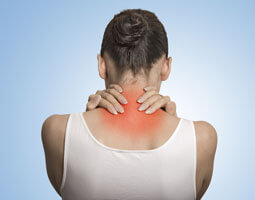 a patient with neck pain due to fibromyalgia